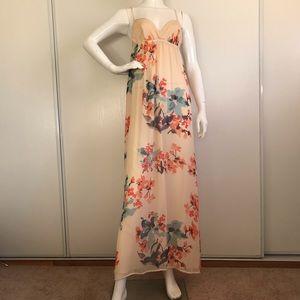 GYPSY 05 Floral Silk Maxi Dress